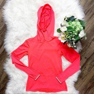 • Nike Dri Fit Neon Pink Athletic Hoodie •